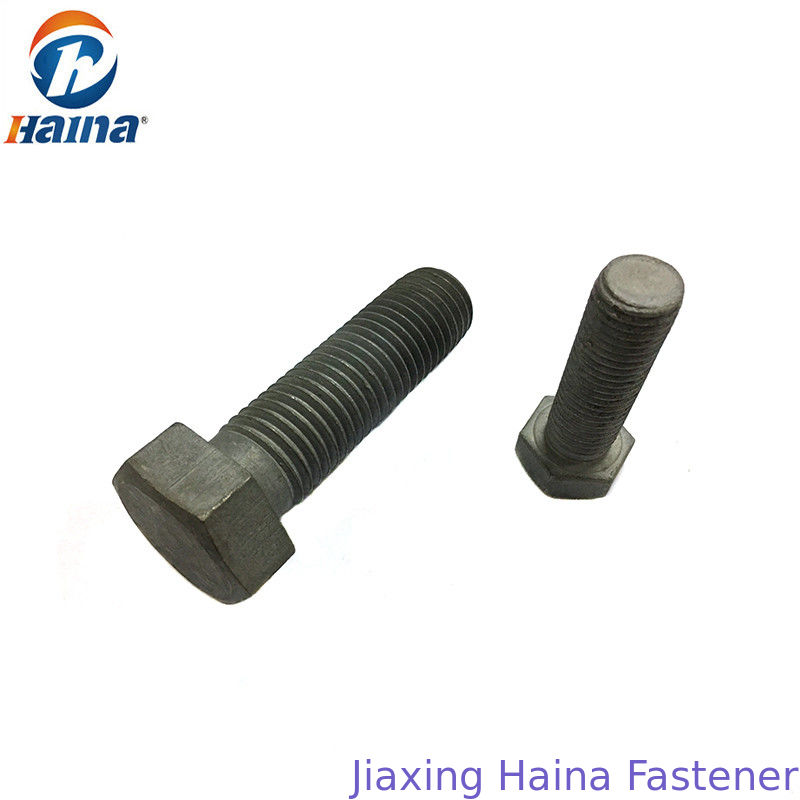 Gr4.8 8.8 DIN933 GB /T 5782-Carbon Steel Hex Head Bolts With Zinc Surface