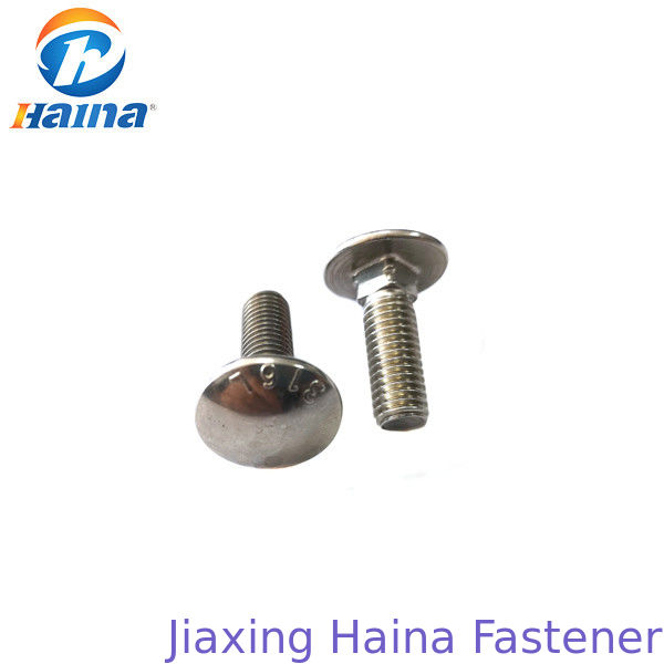 Stainless Steel A2-70 A4-80 SS316 Mushroom Head Carriage Bolt